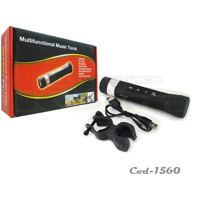 Linterna Bluetooth Manos Libres Cargador Mp3