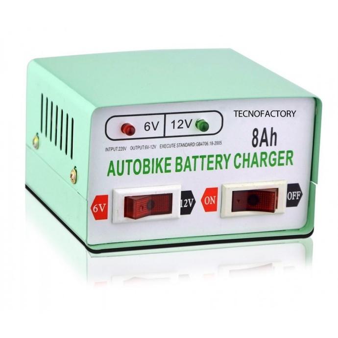 Cargador Bateria Auto Motos 6v 12 V 8 Ah