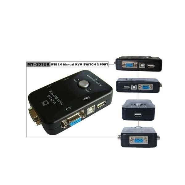 Kvm Switch Usb Conector Pc Cpu 2 X 1