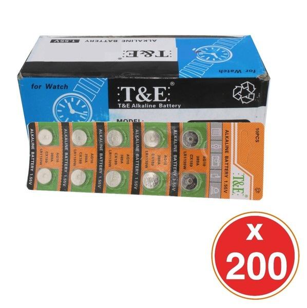 Pack Caja De 200 Pilas Ag10 - 1.55v