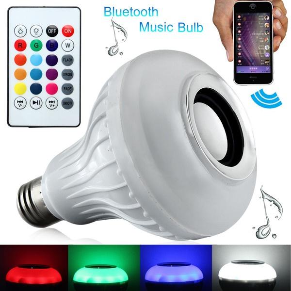 Ampolleta Bluetooth Luz Led Altavoz C/ Remoto