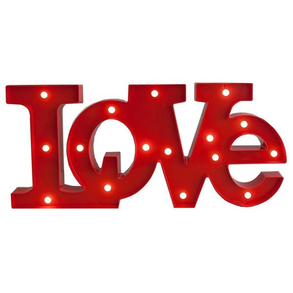 Pack 3 Lampara Led Figura Love Luz Led Enamorados