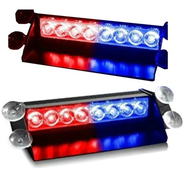 Baliza Led Policial De Parabrisas Roja - Azul