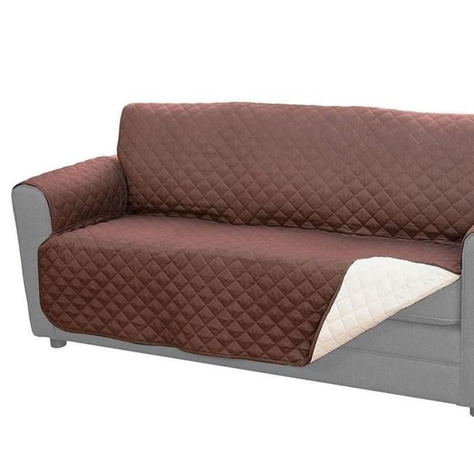 Cobertor Sillón Sofá 3 Cuerpos Reversible