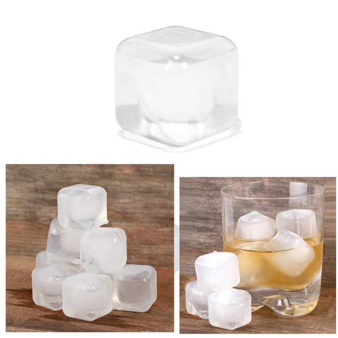 Set 15 Cubos Hielo Reutilizable Fiesta Whisky