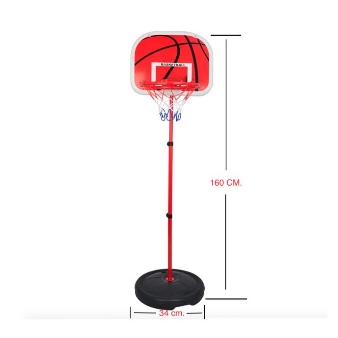 Soporte Baloncesto Altura Ajustable Niños + Balón + Inflador