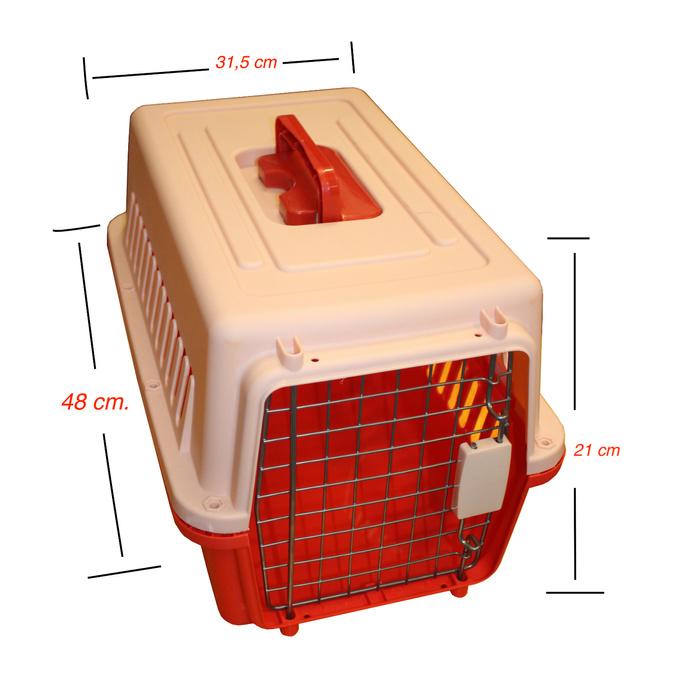 Jaula Transporte Mascotas 48 x 31,5 x 21cm