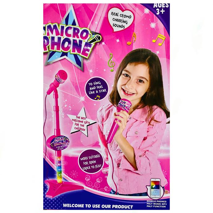 Micrófono Star Party Mp3 Pedestal Led