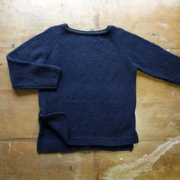 Sweater Túnica tejido a palillo en lana de oveja