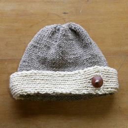 Gorro Dama tejido a palillo en lana de oveja