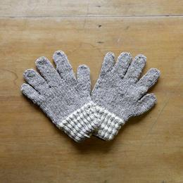 Guantes adulto tejido a palillo en lana de oveja