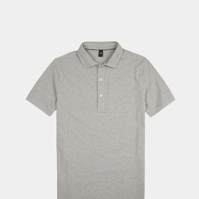 Light Marl Grey Davis Polo