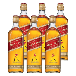 Whisky Johnnie Walker Etiqueta Roja Botella 750cc x6