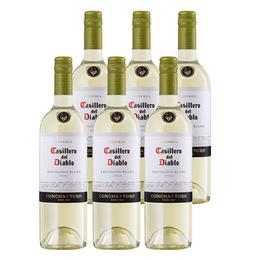 Vino Casillero del Diablo Sauvignon Blanc Botella 750cc x6