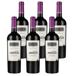 Vino Santa Ema Select Terroir Carmenere Botella 750cc x6
