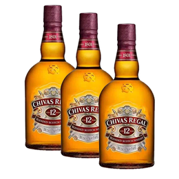 Chivas Regal 12 Años Botella 1Lt x3