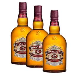Chivas Regal 12 Años Botella 1Lt x3