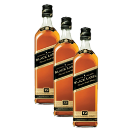 Whisky Johnnie Walker Etiqueta Negra Botella 750cc x3