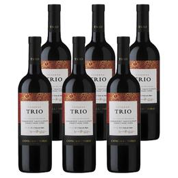 Vino Trio Reserva Cabernet Sauvignon Cabernet Franc / Syrah Botella 750cc x6