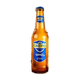 Cerveza Sin Alcohol Cristal Cero Botella 355cc