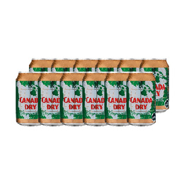 Canada Dry Ginger Ale Lata 350cc x12