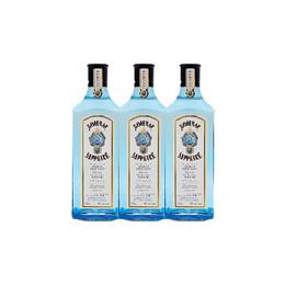 Gin Bombay Sapphire Botella 750cc x3