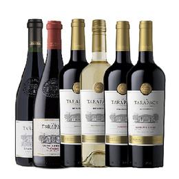 Tarapaca 1 Cab. Sauv. + 1 Carmenere + 1 Merlot +1 Sauv. Blanc Reserva + 1 Gran Reserva Cab. Sauvignon + 1 Gran Reserva Carmenere 750cc