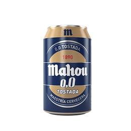 Cerveza Mahou Tostada Sin Alcohol Lata 330cc