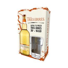 Tres Erres 35° Botella 700cc + Vaso