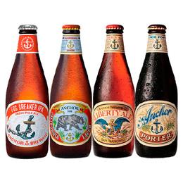 Cerveza Anchor California Lager + Fog Breaker + Liberty Ale + Porter Botella 355cc