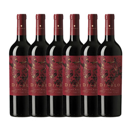 Vino Diablo Dark Red Botella 750cc x6