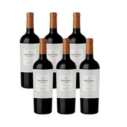 Vino MontGras Aura Reserva Carmenere Botella 750cc x6