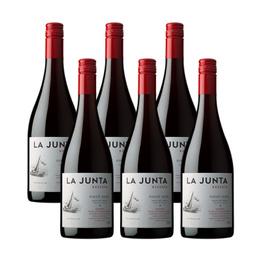 Vino La Junta Reserva Pinot Noir Botella 750cc x6