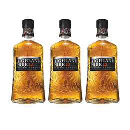 Whisky Highland Park Single Malt 12 Años Botella 700cc x3