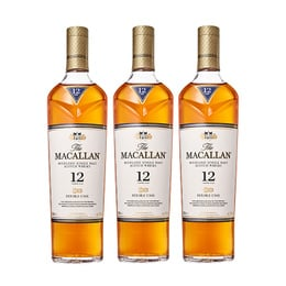Whisky The Macallan Double Cask 12 Años Botella 700cc x3
