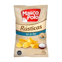 Marco Polo Papas Fritas Rústicas Sal de Mar 185 grs