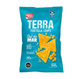 Marco Polo Terra Tortilla Chips Sal de Mar 300 grs