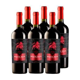 Vino Bestia Roja Gran Reserva Carmenere Botella 750cc x6