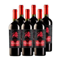 Vino Bestia Roja Gran Reserva Cabernet Sauvignon Botella 750cc x6