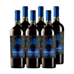 Vino Bestia Azul Reserva Cabernet Sauvignon Botella 750cc x6