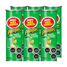 Pringles Papas Fritas Sour Cream & Cebolla 158 grs x6