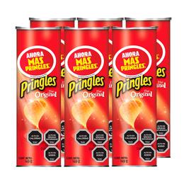Pringles Papas Fritas Original 149 grs x6