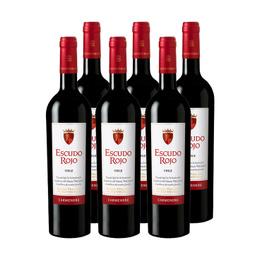 Vino Escudo Rojo Carmenere Botella 750cc x6
