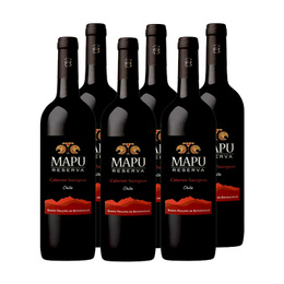 Mapu Reserva Cabernet Sauvignon Botella 750cc x6