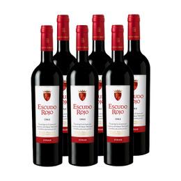 Vino Escudo Rojo Syrah Botella 750cc x6