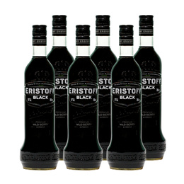 Vodka Eristoff Black Botella 700cc x6