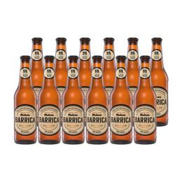 Cerveza Mahou Barrica Original Botella 330cc x12