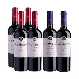 Pack Vino Viu Manent Estate 4 Cabernet Sauvignon + 2 Carmenere Botella 750cc