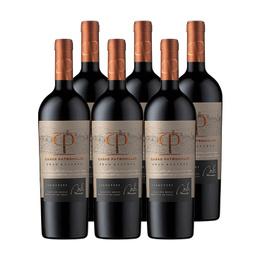 Vino Casas Patronales Gran Reserva Carmenere Botella 750cc x6