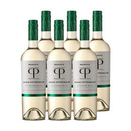 Vino Casas Patronales Reserva Sauvignon Blanc Botella 750cc x6